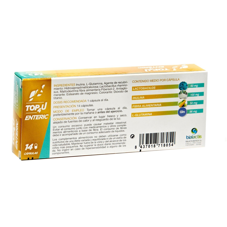 Comprar suplemento en capsulas con fibra   TOP4U ENTERIC