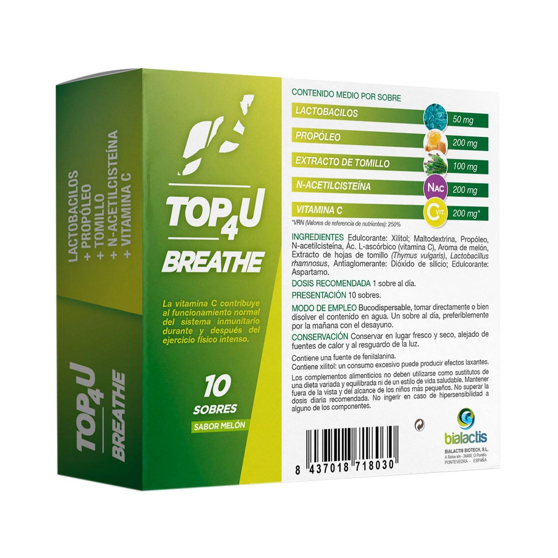 Caja de TOP4U Breathe | Probioticos sabor melón
